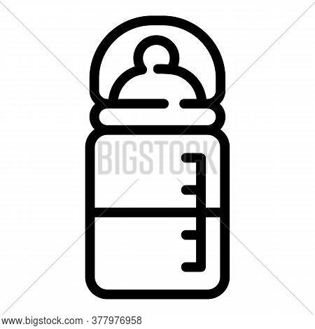 Half Milk Bottle Icon. Outline Half Milk Bottle Vector Icon For Web Design Isolated On White Backgro