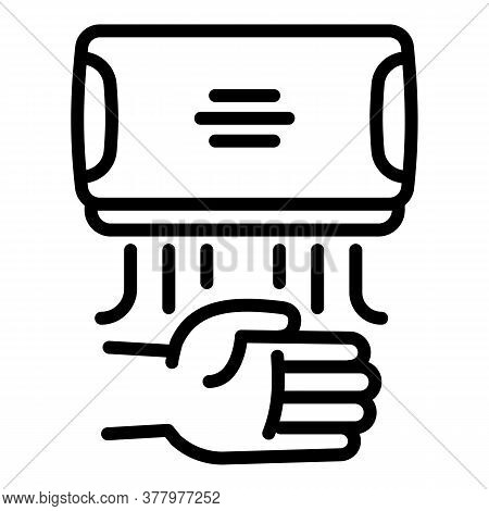 Hand Dryer Icon. Outline Hand Dryer Vector Icon For Web Design Isolated On White Background