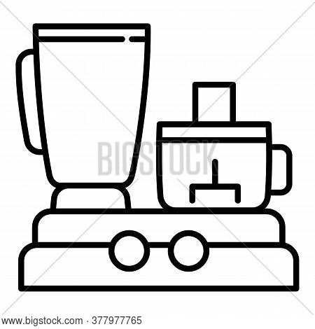 Food Processor Icon. Outline Food Processor Vector Icon For Web Design Isolated On White Background
