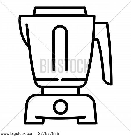 Food Processor Equipment Icon. Outline Food Processor Equipment Vector Icon For Web Design Isolated