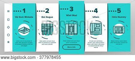 Heat Flooring Device Onboarding Mobile App Page Screen Vector. Flooring Temperature Control Regulato