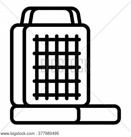 Waffle-iron Maker Icon. Outline Waffle-iron Maker Vector Icon For Web Design Isolated On White Backg