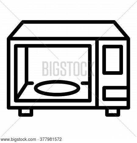 Microwave Icon. Outline Microwave Vector Icon For Web Design Isolated On White Background