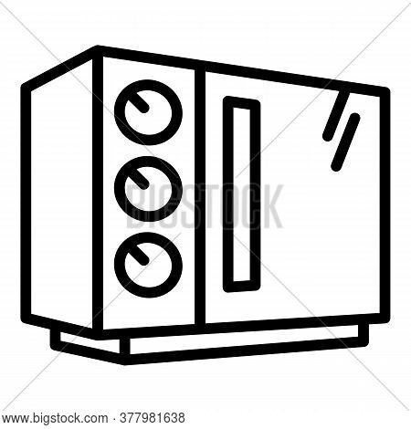 Old Microwave Icon. Outline Old Microwave Vector Icon For Web Design Isolated On White Background