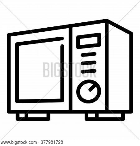 Office Microwave Icon. Outline Office Microwave Vector Icon For Web Design Isolated On White Backgro