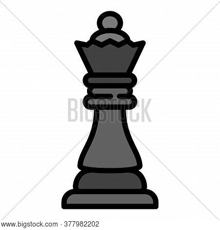 Chess Queen Icon. Outline Chess Queen Vector Icon For Web Design Isolated On White Background