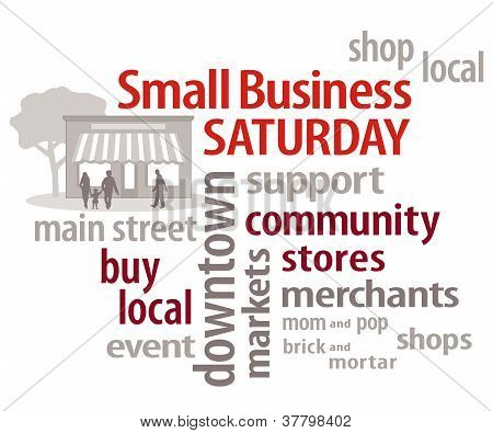 Small Business Saturday Word Cloud