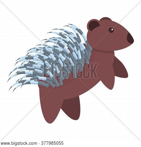 Porcupine Wild Icon. Cartoon Of Porcupine Wild Vector Icon For Web Design Isolated On White Backgrou