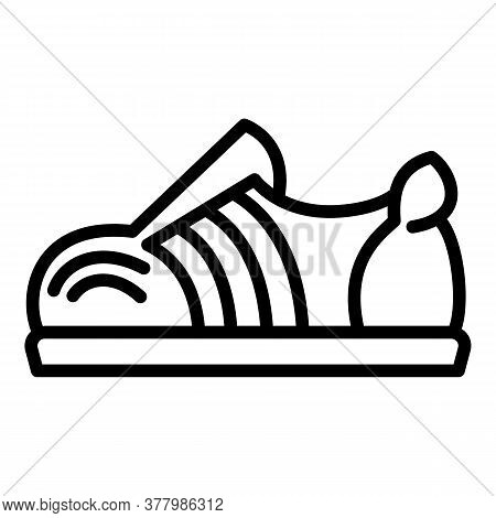 Hiphop Shoe Icon. Outline Hiphop Shoe Vector Icon For Web Design Isolated On White Background