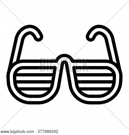 Hiphop Eyeglasses Icon. Outline Hiphop Eyeglasses Vector Icon For Web Design Isolated On White Backg