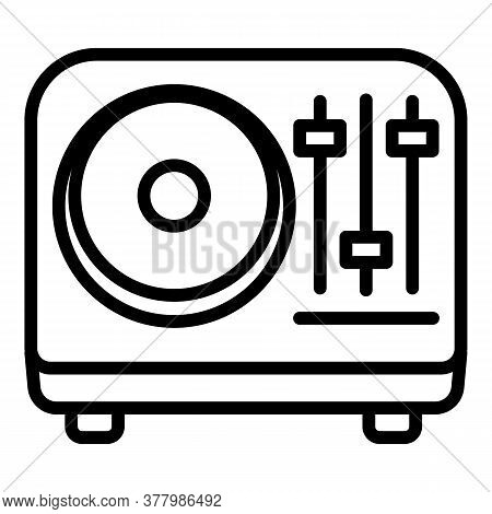 Portable Speaker Icon. Outline Portable Speaker Vector Icon For Web Design Isolated On White Backgro