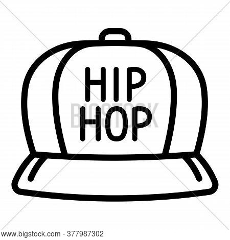 Hiphop Cap Icon. Outline Hiphop Cap Vector Icon For Web Design Isolated On White Background