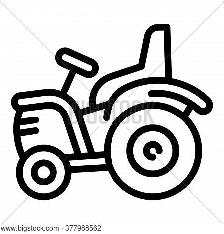 Tractor Icon. Outline Tractor Vector Icon For Web Design Isolated On White Background