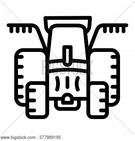 Cultivation Tractor Icon. Outline Cultivation Tractor Vector Icon For Web Design Isolated On White B