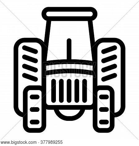 Industry Tractor Icon. Outline Industry Tractor Vector Icon For Web Design Isolated On White Backgro