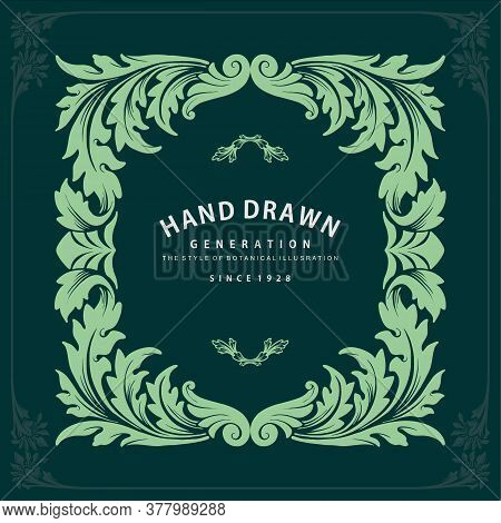 Label Ornate Swirls And Vignettes Frame Design Vector Invitation And Wine Design