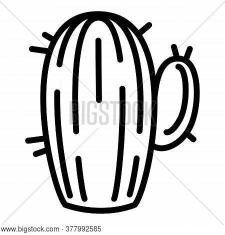 Mexican Cactus Icon. Outline Mexican Cactus Vector Icon For Web Design Isolated On White Background