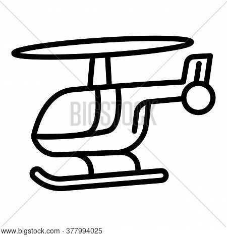 Helicopter Icon. Outline Helicopter Vector Icon For Web Design Isolated On White Background