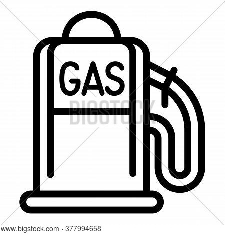Gas Fill Station Icon. Outline Gas Fill Station Vector Icon For Web Design Isolated On White Backgro