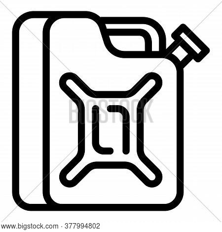 Gasoline Canister Icon. Outline Gasoline Canister Vector Icon For Web Design Isolated On White Backg