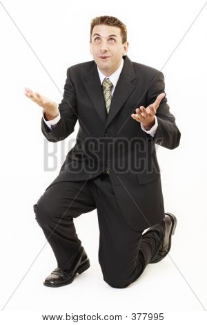 Businessman On Knees
