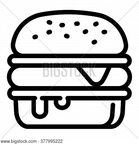Burger Icon. Outline Burger Vector Icon For Web Design Isolated On White Background