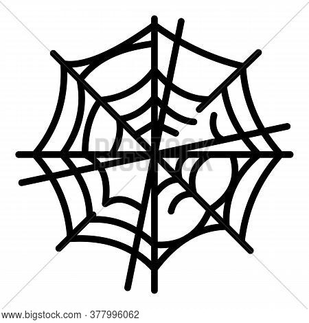 Old Spider Web Icon. Outline Old Spider Web Vector Icon For Web Design Isolated On White Background