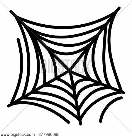 Scary Spider Web Icon. Outline Scary Spider Web Vector Icon For Web Design Isolated On White Backgro