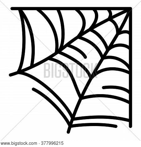 Wild Spider Web Icon. Outline Wild Spider Web Vector Icon For Web Design Isolated On White Backgroun