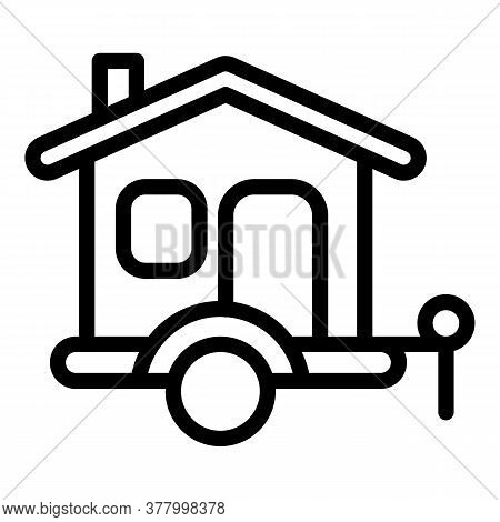 Trip Trailer Icon. Outline Trip Trailer Vector Icon For Web Design Isolated On White Background