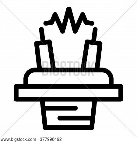 Electronic Cigarette Coil Icon. Outline Electronic Cigarette Coil Vector Icon For Web Design Isolate