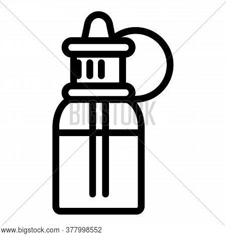 Electronic Cigarette Bottle Liquid Icon. Outline Electronic Cigarette Bottle Liquid Vector Icon For