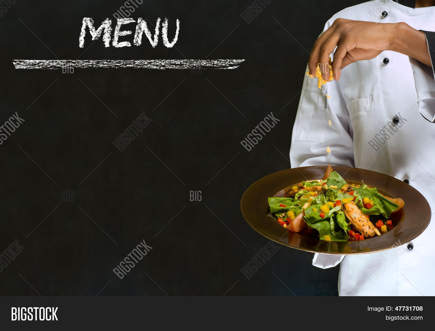 chef healthy salad image & photo (free trial) | bigstock