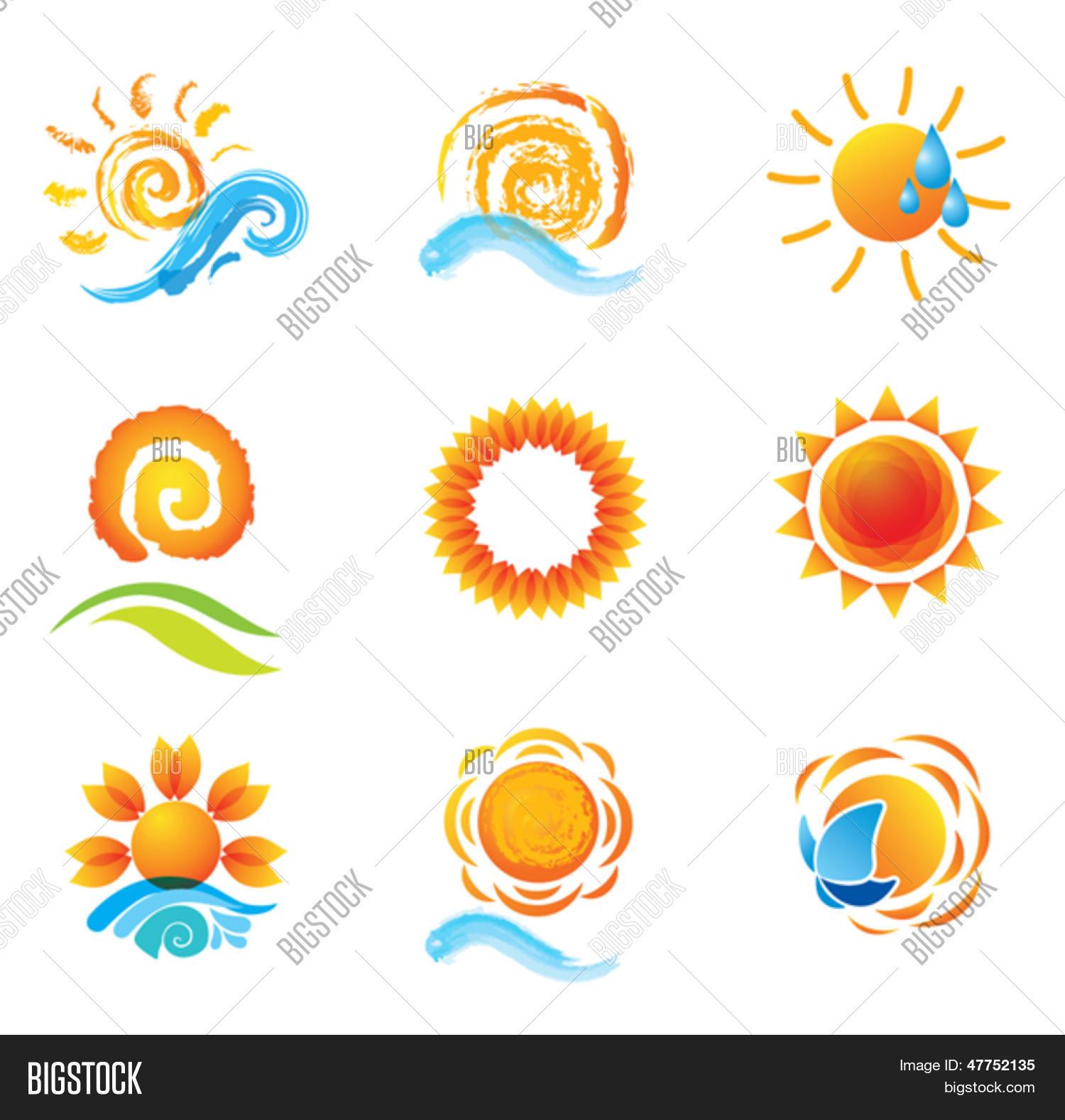 1d040ccf1fe6a Vector y foto Conjunto De Soles. (prueba gratis)