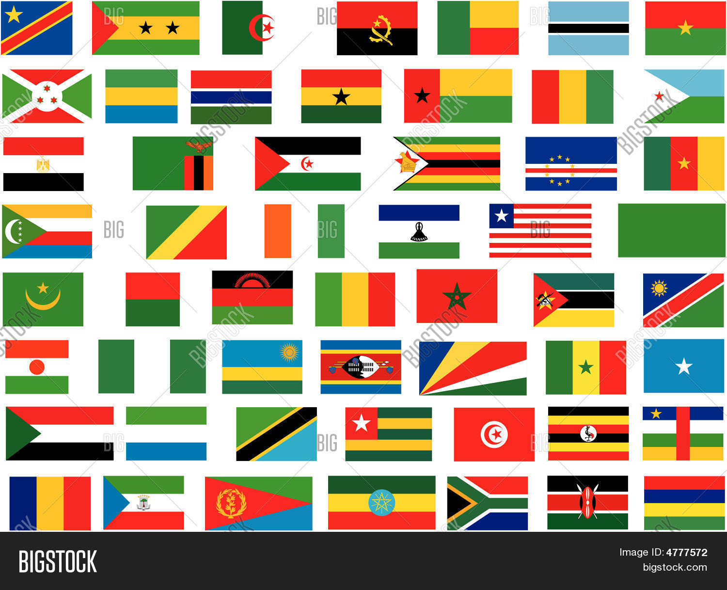 flags all africa vector photo free trial bigstock