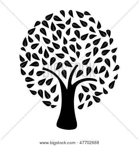 Tree Silhouette Isolated