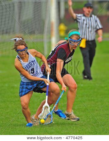 Girls Hs Varsity Lacrosse Ball Turnover