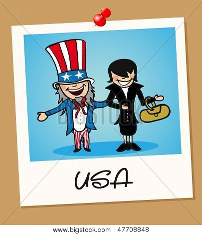 Usa Travel Polaroid People