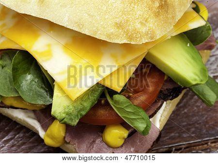 Beef Sandwich Close UP
