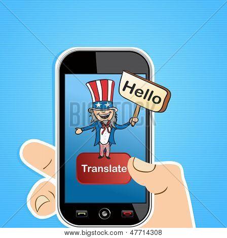 English Translation App Concept