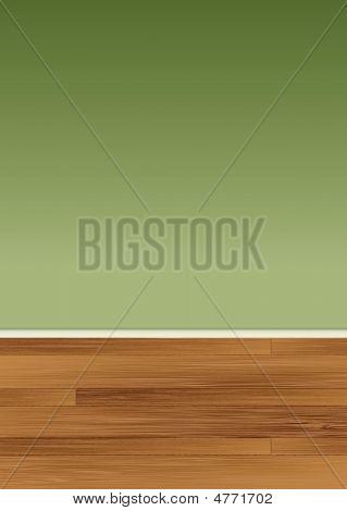 Holzfußboden Wand