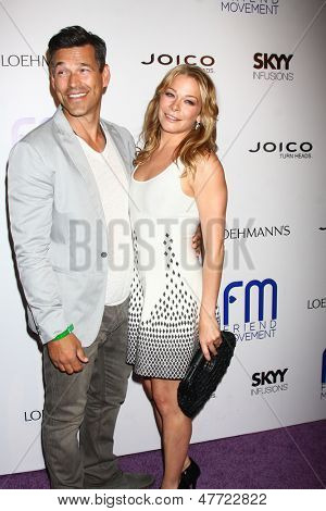 LOS ANGELES - JUL 1:  Eddie Cibrian, LeAnn Rimes arrives at the Friend Movement Anti-Bullying Benefit Concert at the El Rey Theater on July 1, 2013 in Los Angeles, CA