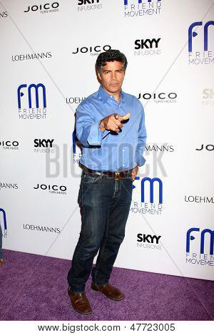LOS ANGELES - JUL 1:  Esai Morales arrives at the Friend Movement Anti-Bullying Benefit Concert at the El Rey Theater on July 1, 2013 in Los Angeles, CA