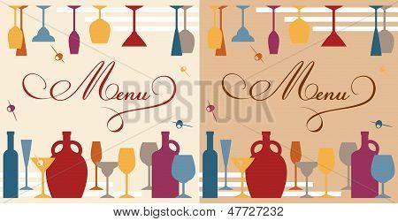 Menu template for bar or restaurant
