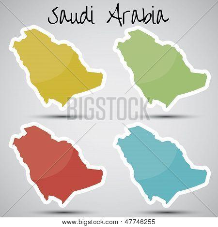 stickers in form of Saudi Arabia
