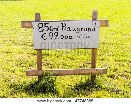 on a lawn is a sign