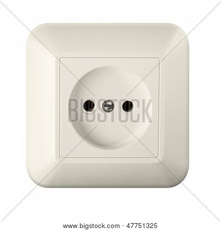 wall outlet isolated with clipping path included