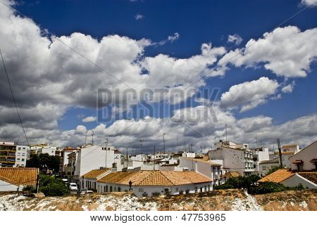 Great view of Estepona, a typical andalucian village