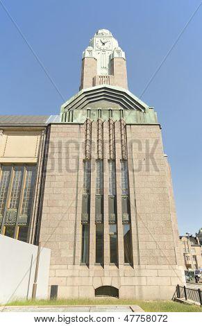 Clock tower Helsinki central railway station
