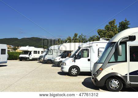 Campers At A Camper Site